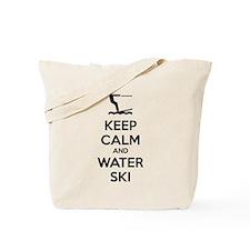 Keep calm and water ski Tote Bag