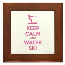 Keep calm and water ski Framed Tile