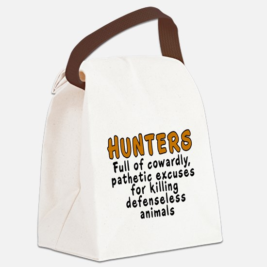 Hunters: Cowardly excuses - Canvas Lunch Bag