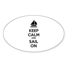 Keep calm and sail on Bumper Stickers