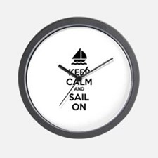 Keep calm and sail on Wall Clock