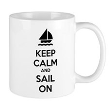 Keep calm and sail on Mug