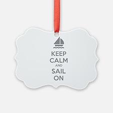 Keep calm and sail on Ornament