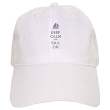 Keep calm and sail on Baseball Cap