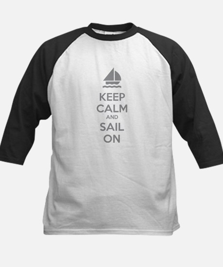 Keep calm and sail on Kids Baseball Jersey