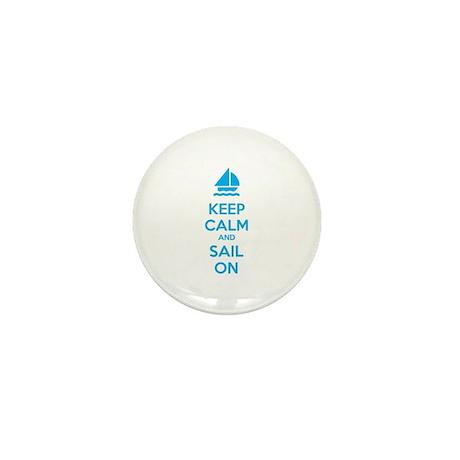 Keep calm and sail on Mini Button