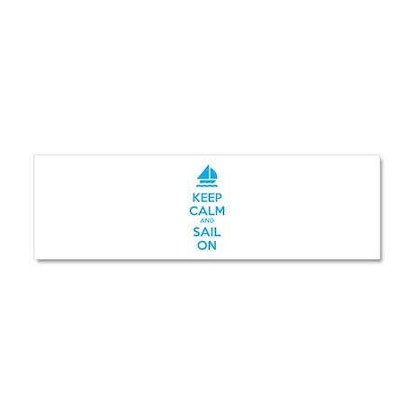 Keep calm and sail on Car Magnet 10 x 3