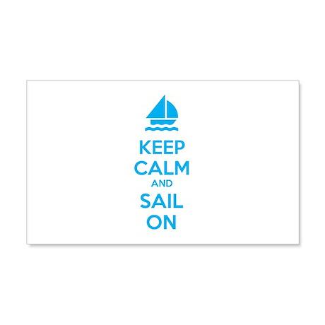 Keep calm and sail on 22x14 Wall Peel