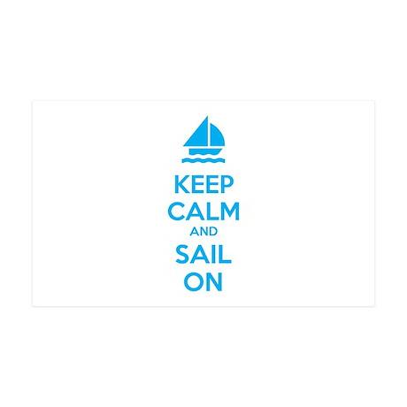 Keep calm and sail on 38.5 x 24.5 Wall Peel