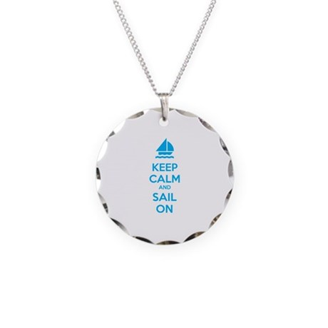 Keep calm and sail on Necklace Circle Charm