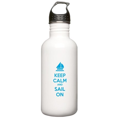 Keep calm and sail on Stainless Water Bottle 1.0L