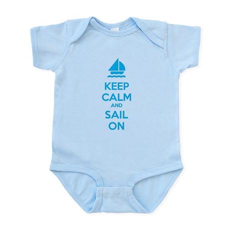 Keep calm and sail on Infant Bodysuit