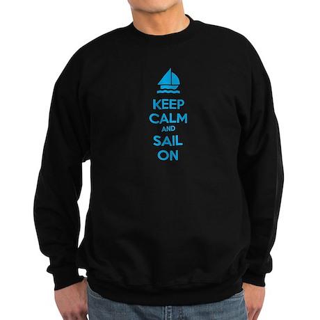 Keep calm and sail on Sweatshirt (dark)