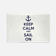 Keep calm and sail on Rectangle Magnet (100 pack)