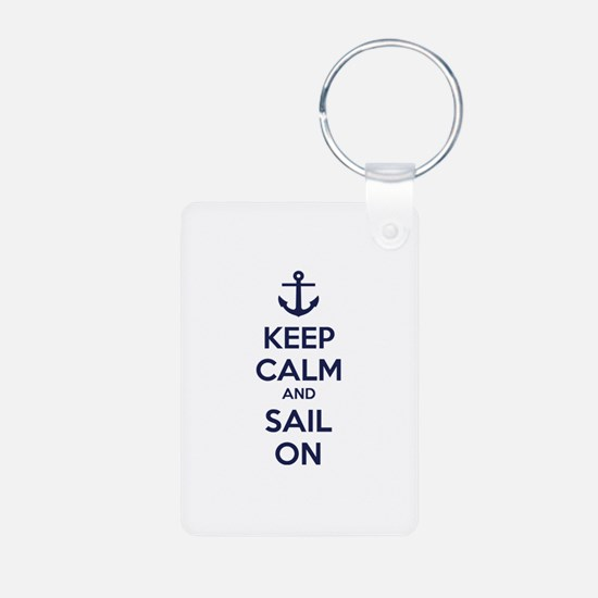 Keep calm and sail on Keychains