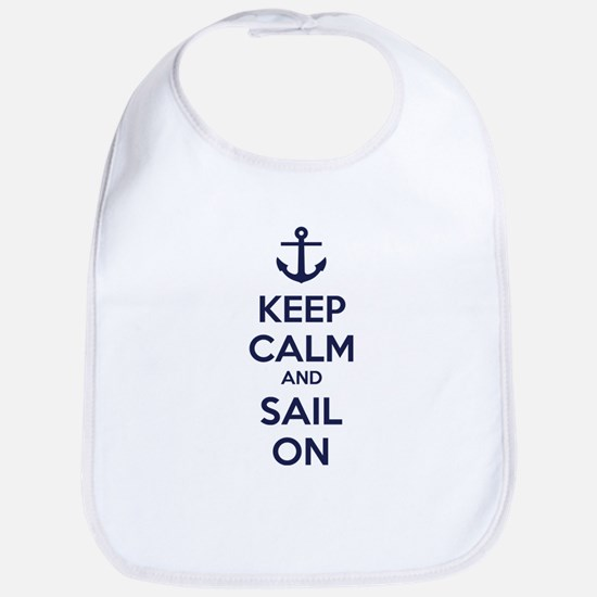 Keep calm and sail on Bib