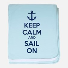 Keep calm and sail on baby blanket