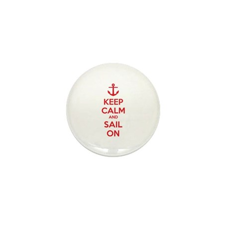 Keep calm and sail on Mini Button (10 pack)