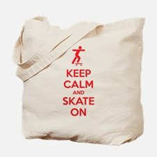 Keep calm and skate on Tote Bag