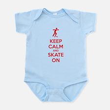 Keep calm and skate on Infant Bodysuit