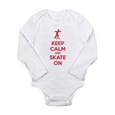 Keep calm and skate on Long Sleeve Infant Bodysuit