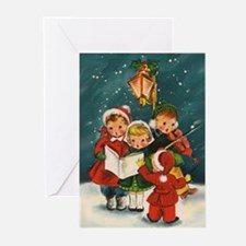 Vintage Christmas children Greeting Cards (Pk of 2