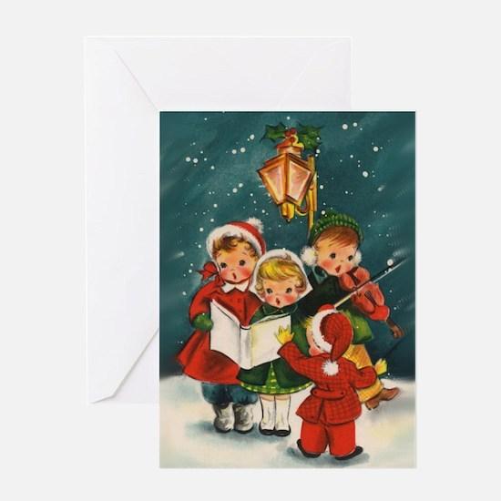 Vintage Christmas children Greeting Card