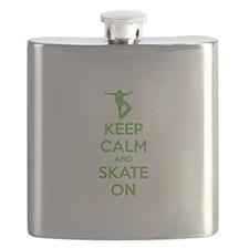 Keep calm and skate on Flask