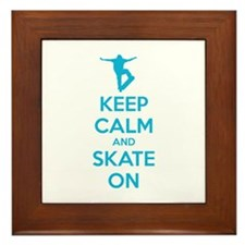 Keep calm and skate on Framed Tile