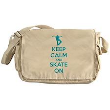Keep calm and skate on Messenger Bag