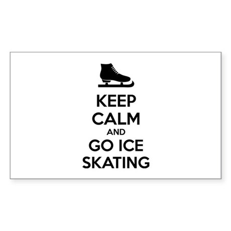 Keep calm and go ice skating Sticker (Rectangle)