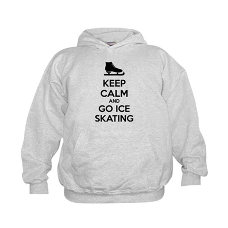 Keep calm and go ice skating Kids Hoodie