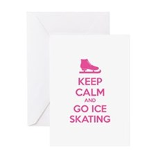 Keep calm and go ice skating Greeting Card