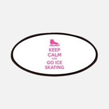 Keep calm and go ice skating Patches