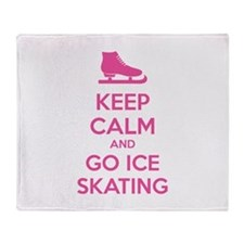 Keep calm and go ice skating Throw Blanket