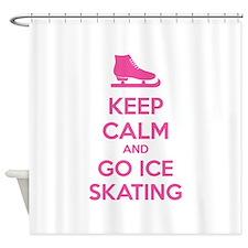Keep calm and go ice skating Shower Curtain