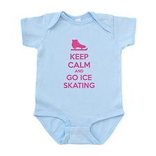 Keep calm and go ice skating Infant Bodysuit