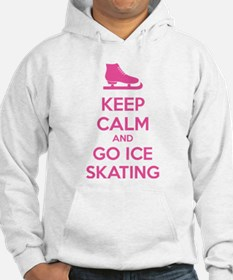 Keep calm and go ice skating Hoodie