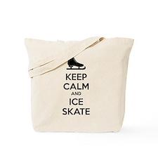 Keep calm and ice skate Tote Bag