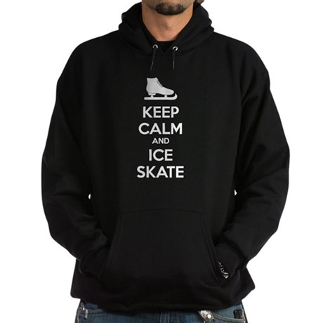 Keep calm and ice skate Hoodie (dark)