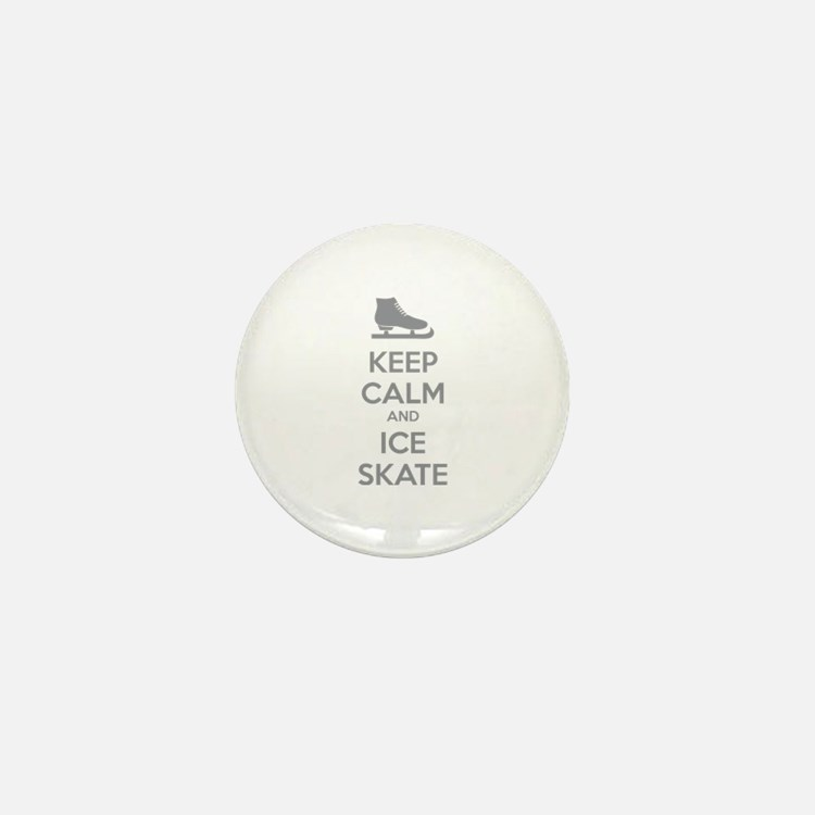 Keep calm and ice skate Mini Button (100 pack)