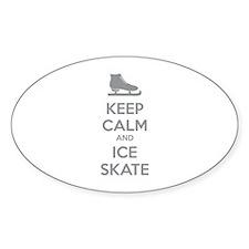 Keep calm and ice skate Decal
