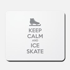 Keep calm and ice skate Mousepad