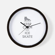 Keep calm and ice skate Wall Clock