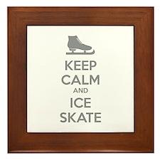 Keep calm and ice skate Framed Tile