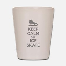 Keep calm and ice skate Shot Glass