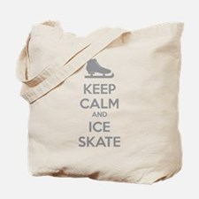 Keep calm and ice skate Tote Bag