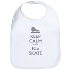 Keep calm and ice skate Bib