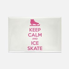 Keep calm and ice skate Rectangle Magnet (100 pack