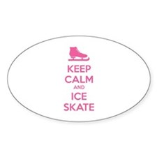 Keep calm and ice skate Stickers